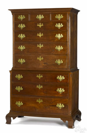 Pennsylvania Chippendale walnut chest on chest ca 1775