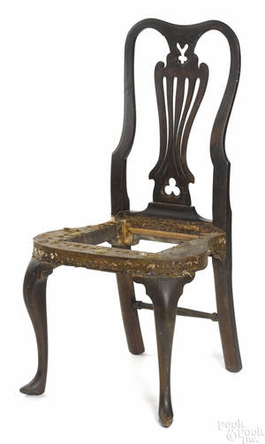 Philadelphia Queen Anne walnut dining chair ca 1750