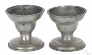 Two Philadelphia pewter salts late 18th c