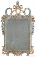 French painted gessoed mirror 18th c