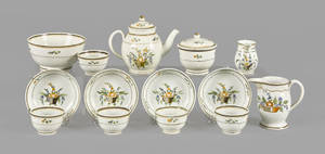 English miniature pearlware tea service 19th c