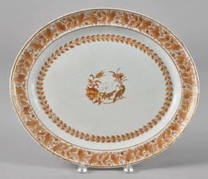 Chinese export porcelain platter 19th c