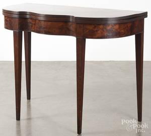 Pennsylvania Federal mahogany card table
