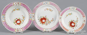 Queens Rose pearlware soup bowl
