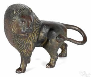 Cast iron lion doorstop late 19th c