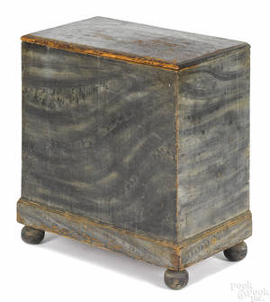 Diminutive New England painted pine chest earlymid 19th c