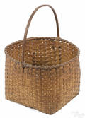 Split oak basket 19th c