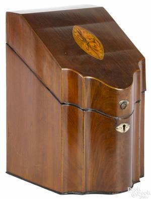 George III mahogany bottle case late 18th c