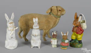 Six German Easter candy containers
