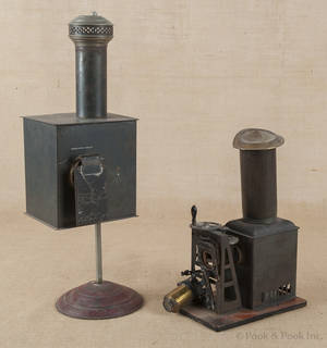 Two tin magic lanterns