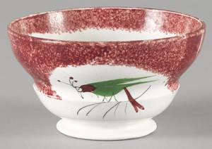 Red spatter waste bowl