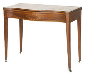 Hepplewhite mahogany card table ca 1800
