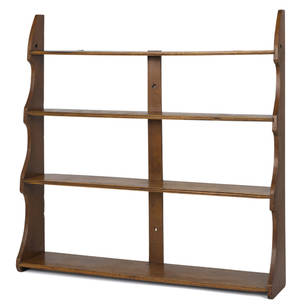 Mahogany hanging shelf late 19th c