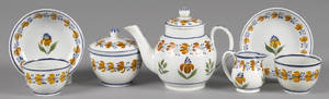 Miniature pearlware tea service 19th c