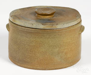 Pennsylvania stoneware lidded crock