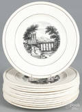 Set of twelve Wedgwood transfer decorated plates