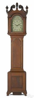Lancaster County Pennsylvania Chippendale walnut tall case clock ca 1797