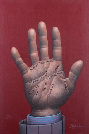 Roger Hane Advertising Hand Acrylic On Canvas