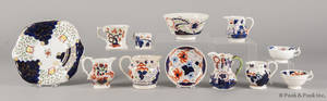 Thirteen pieces of Gaudy Welsh porcelain