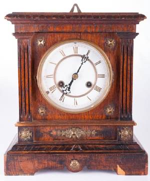 Ansonia Wood Cased Mantle Clock