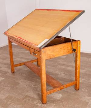 Oak Drafting Table