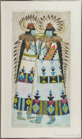 Five Native American subject lithographs