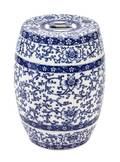 A Chinese Blue and White Porcelain Garden Seat