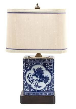 A Chinese Blue and White Porcelain Pillow