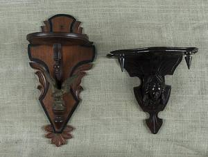 Pair of Victorian brass wall sconces
