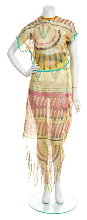 A Zandra Rhodes Multicolor Silk Dress