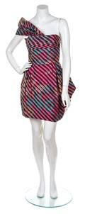 A Lanvin Multicolor Silk Striped Dress