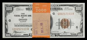 A Group of TwentyEight 1929G Federal Reserve Bank 100 Notes