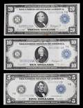 Three United States 1914G Federal Reserve Notes
