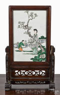 Chinese porcelain panel 19th c