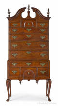 Southern Massachusetts Queen Anne walnut high chest of drawers ca 1765