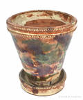 Shenandoah Valley redware flowerpot 19th c