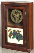 Two Seth Thomas mahogany miniature ogee clocks