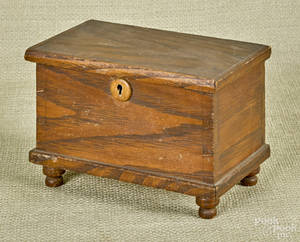 Miniature oak blanket chest