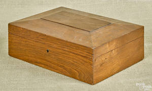 Walnut dresser box