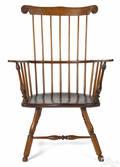 Pennsylvania combback Windsor armchair late 18th c