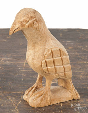 Carved balsa wood eaglet