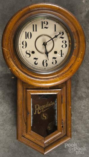 Seth Thomas oak regulator clock