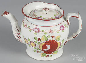 Kings Rose pearlware teapot