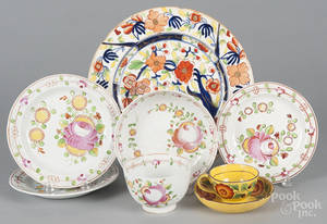 Five Queens Rose pearlware plates
