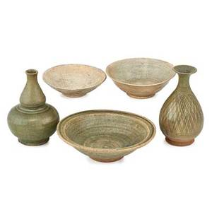 Group of southeast asian pottery