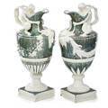 Wedgwood tin glazed earthenware ewers