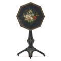 Victorian cast iron painted tilt top table