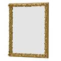 Baroque style gilded frame mirror