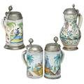 Grouping of faience steins
