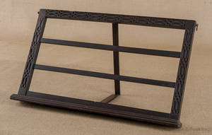 George III mahogany table top music stand ca 1760